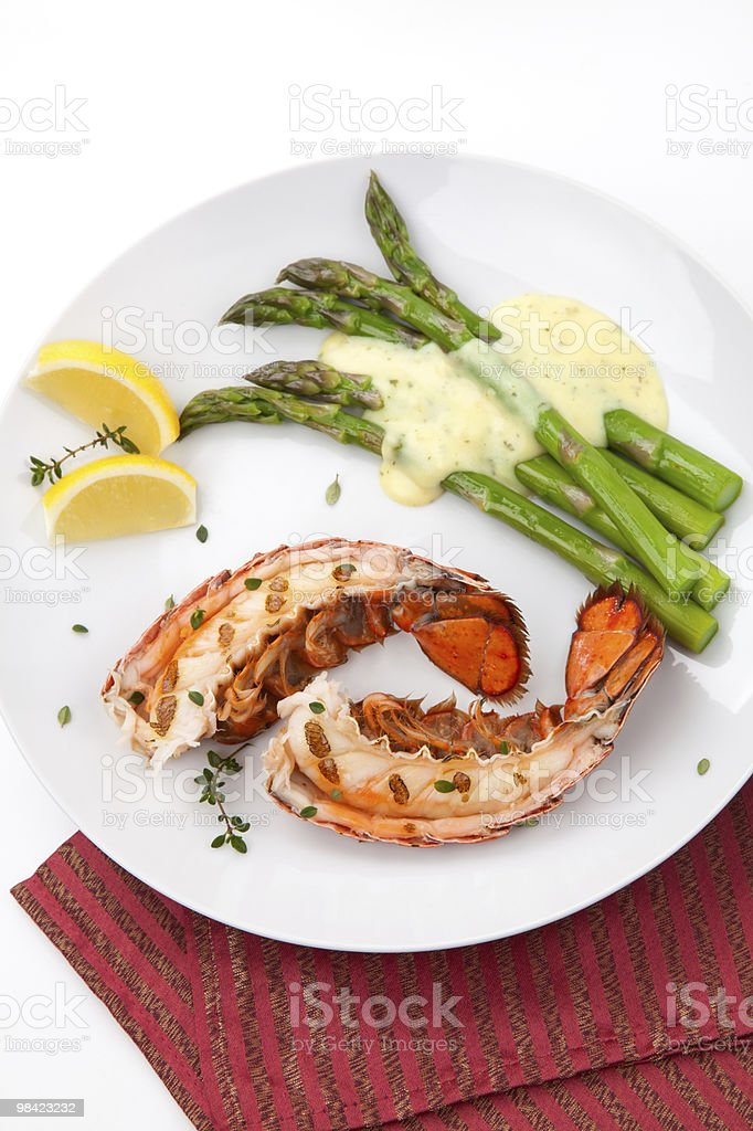 Grilled lobster tails royalty-free stock photo