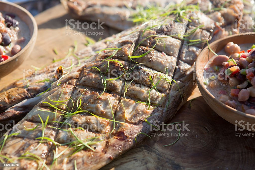 Grilled Mackerel stock photo