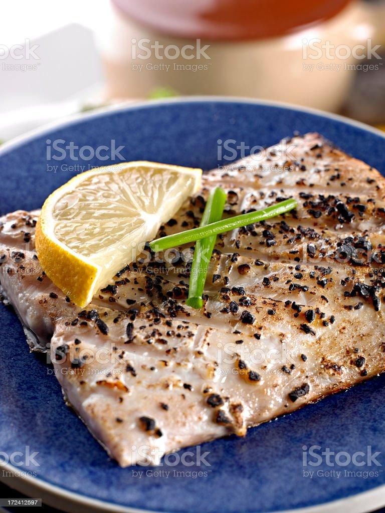 Grilled Mahi stock photo