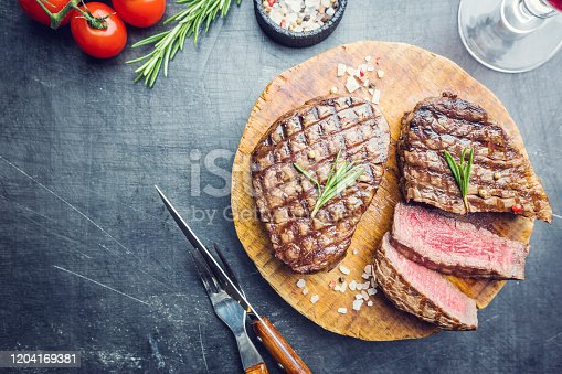 istock Grilled marbled meat steak 1204169381