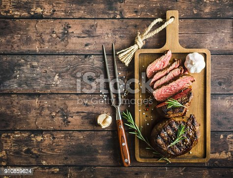 istock Grilled marbled meat steak 910859624