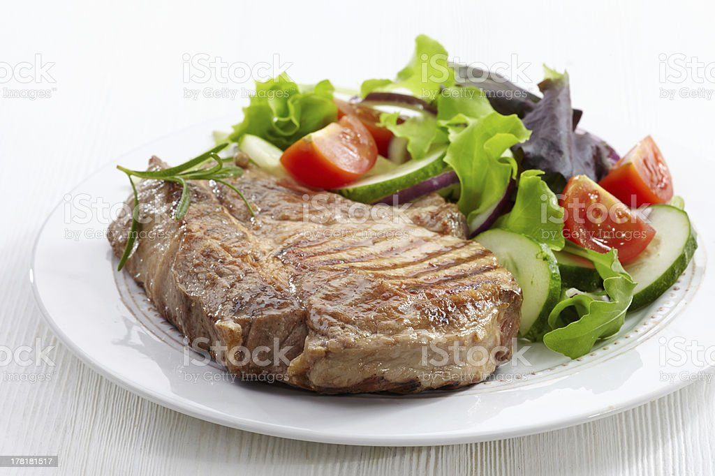 Grilled meat steak royalty-free stock photo