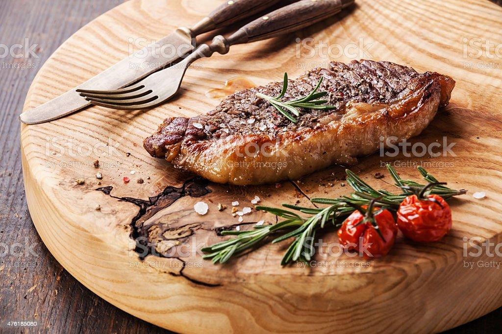 Grilled New York Striploin Steak stock photo