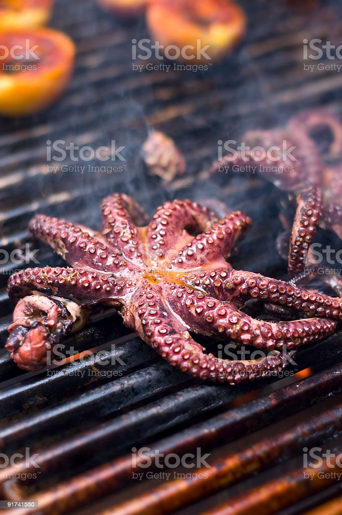 Grilled Octopus royalty-free stock photo