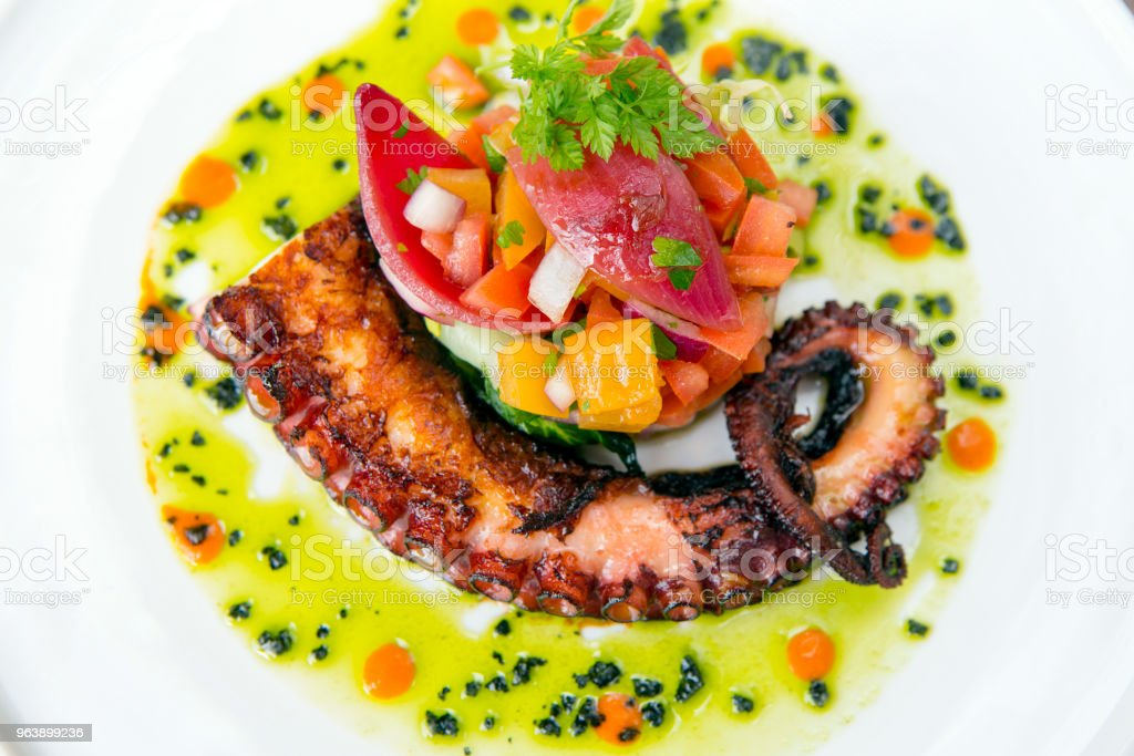 Grilled Octopus Salad - Royalty-free Animal Arm Stock Photo