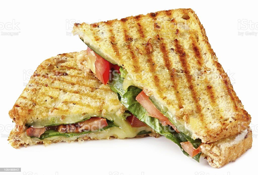 Grilled Panini stock photo