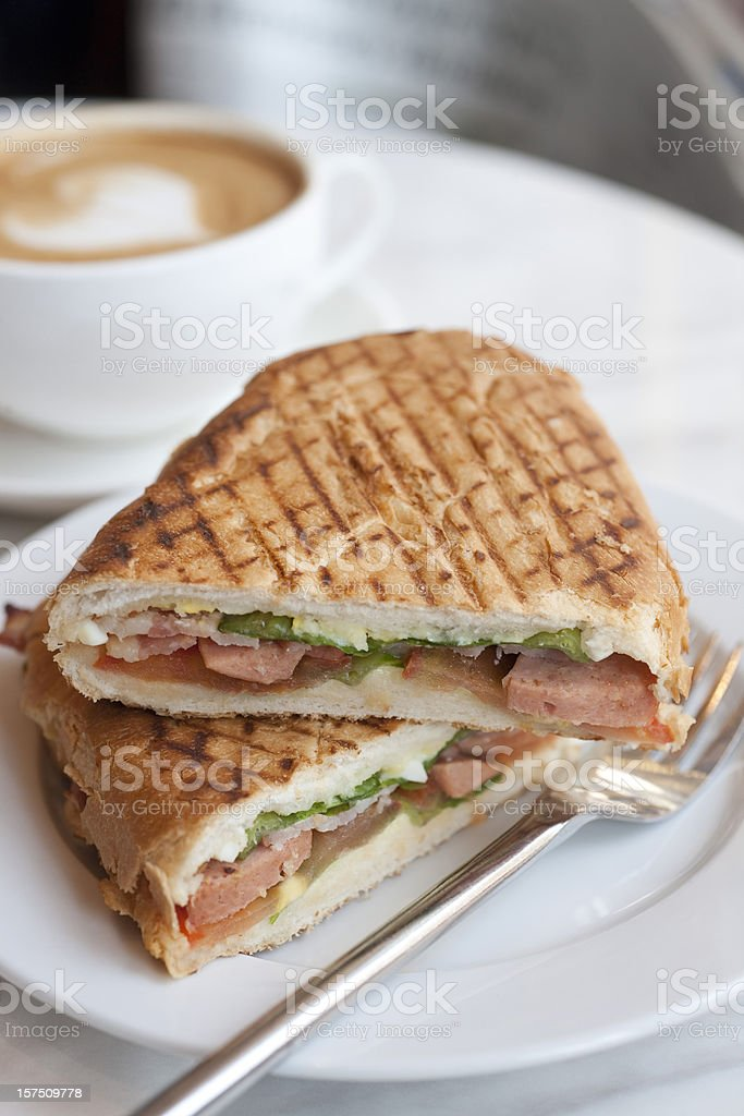 Grilled Panini royalty-free stock photo