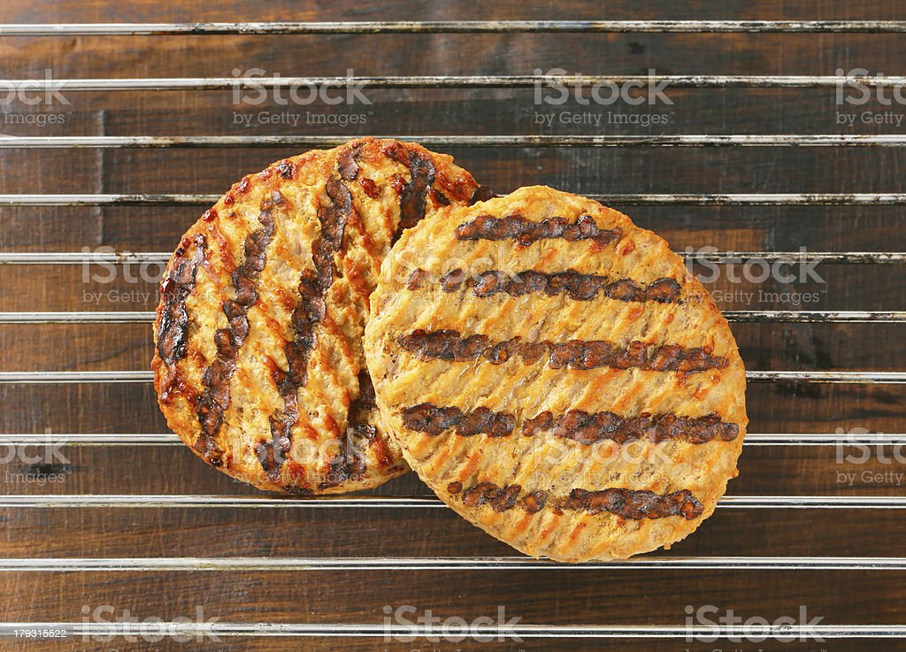 Grilled patties royalty-free stock photo