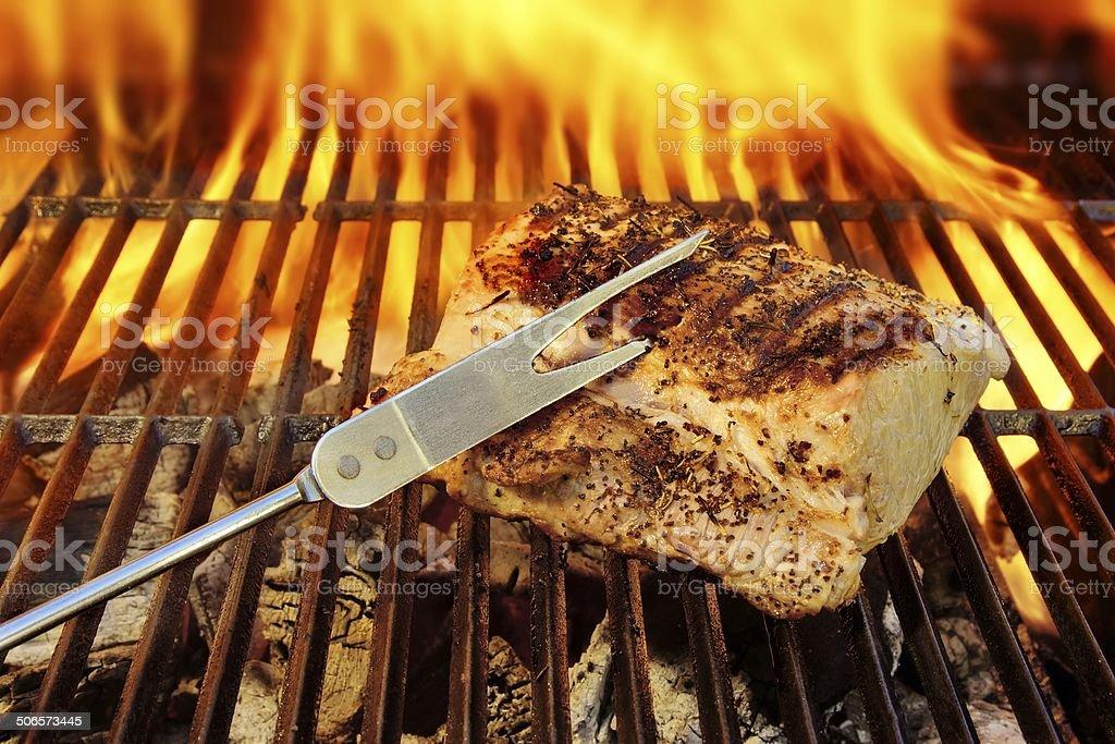 Grilled pork brisket stock photo