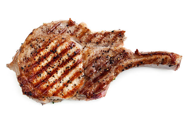 Grilled Pork Cutlet stock photo
