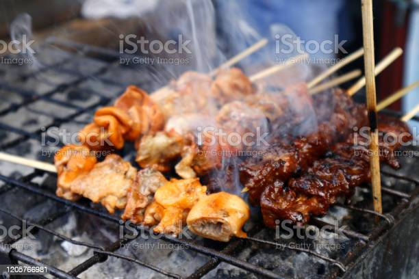 Grilled pork intestine in barbecue sticks sold at a street food stall picture id1205766981?b=1&k=6&m=1205766981&s=612x612&h=cssdrb u9x6edugrbcbtwlpsjftwczn2a2qh9lfo au=