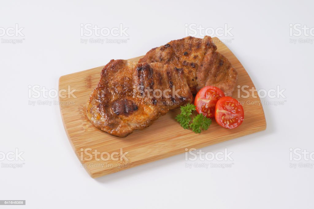 grilled pork meat stock photo