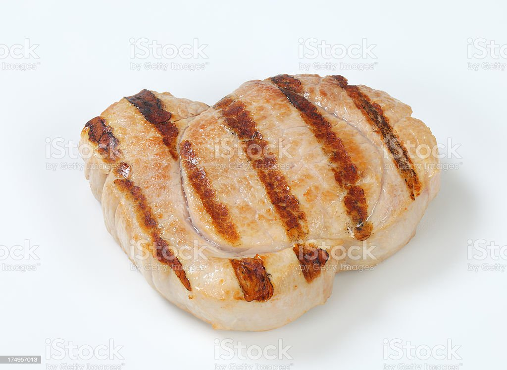 grilled pork steak royalty-free stock photo