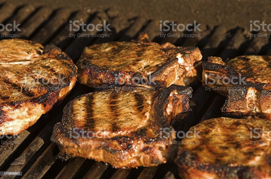 grilled porkchops 1849 royalty-free stock photo