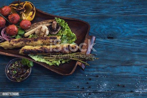 istock Grilled potato kebab 656712698