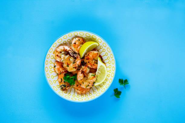 Grilled Prawn Shrimp stock photo