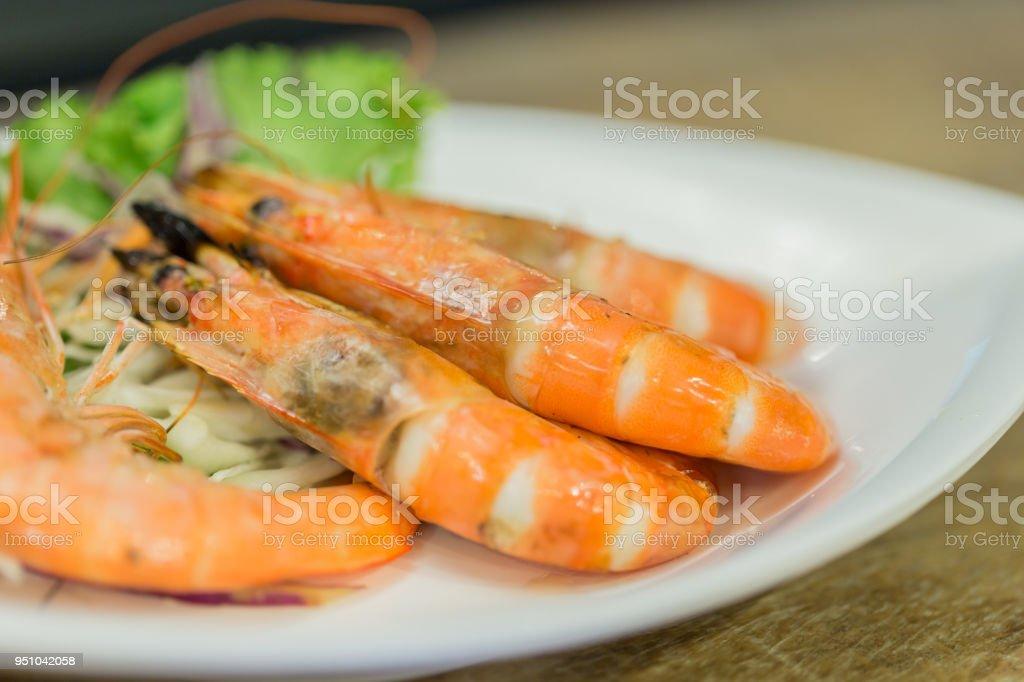 Grilled prawn,Thai food,Selective focus stock photo