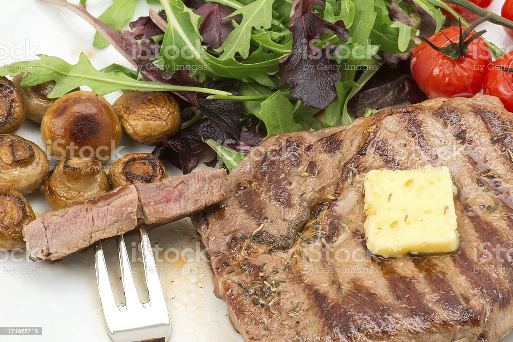 Grilled ribeye steak royalty-free stock photo