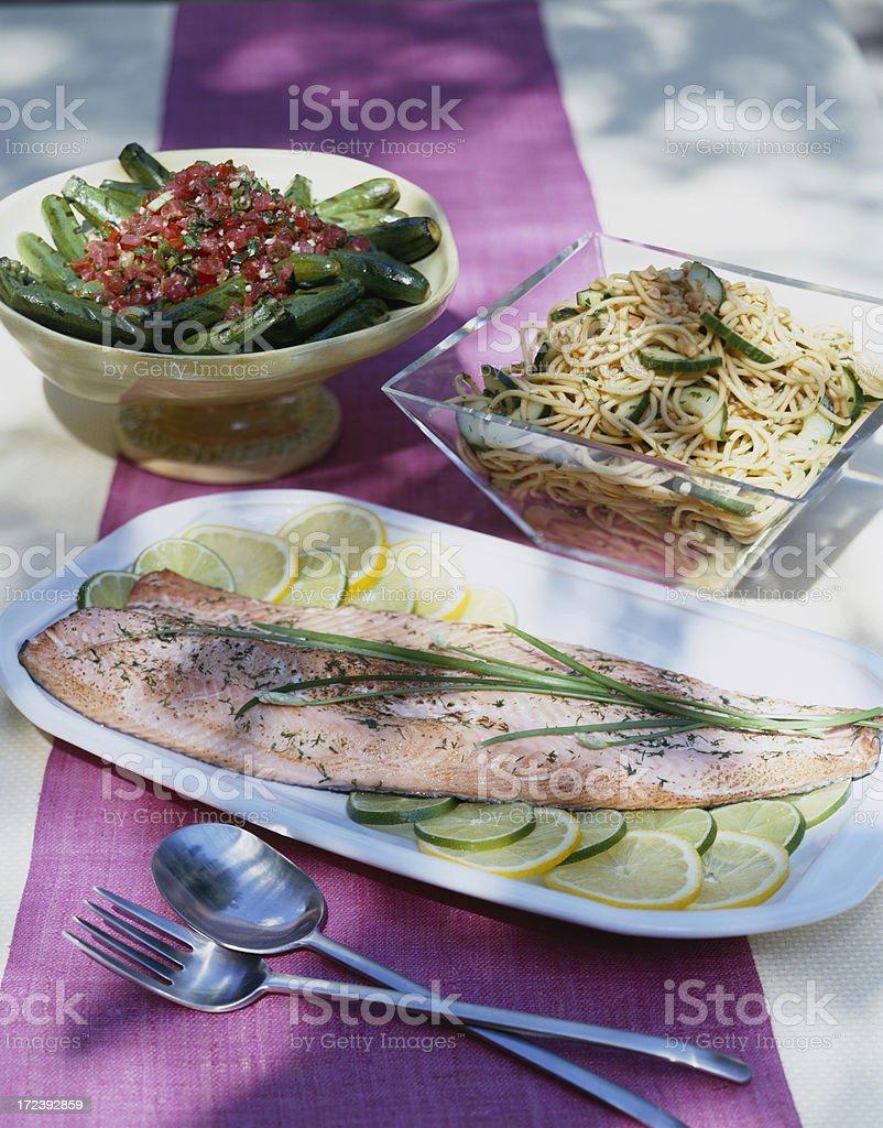 Grilled Salmon Filet royalty-free stock photo