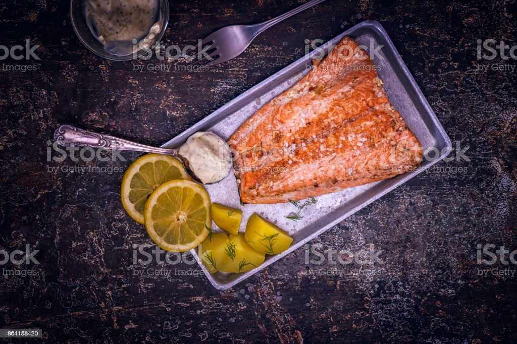 Grilled Salmon Fillet royalty-free stock photo
