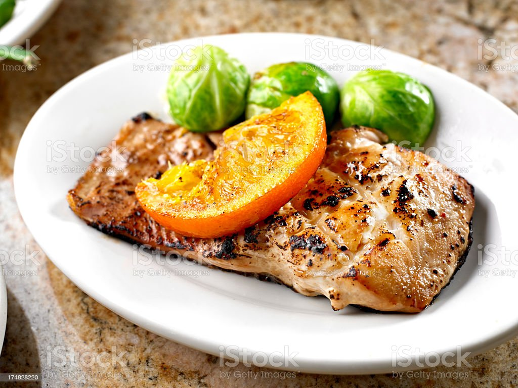 Grilled Salmon royalty-free stock photo
