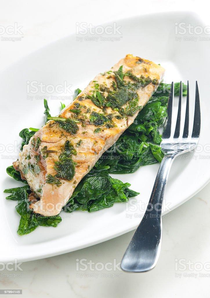 grilled salmon royalty free stockfoto