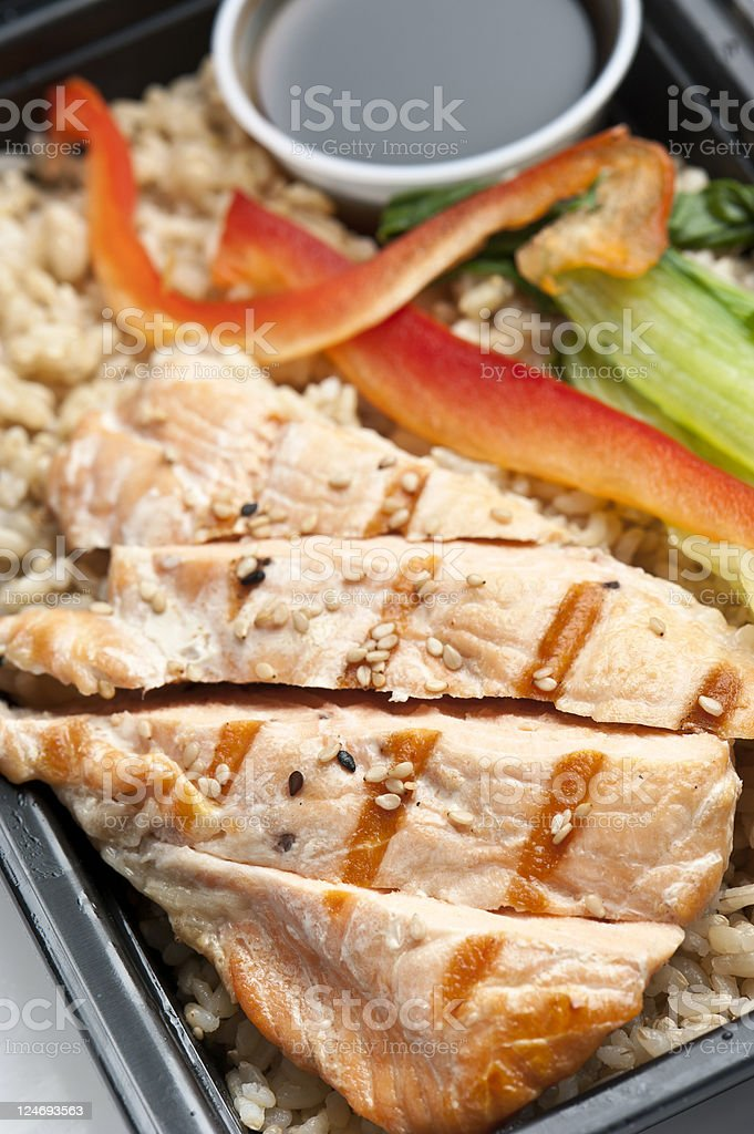 Grilled Salmon Teriyaki royalty-free stock photo