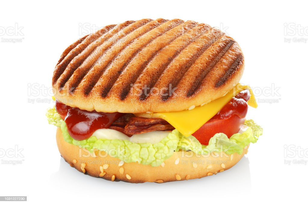 Grilled sandwich isolated stock photo