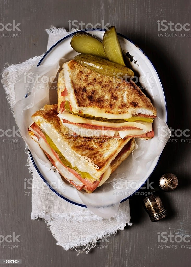 Grilled sandwich stock photo