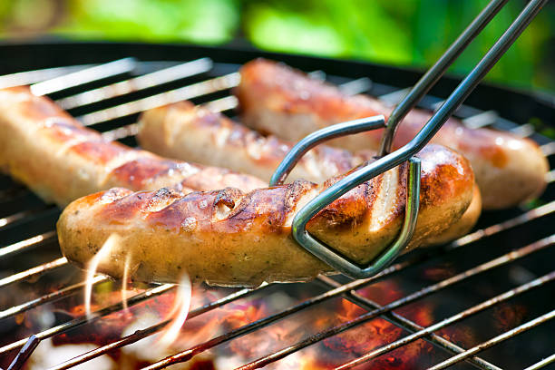Grilled Sausage stock photo