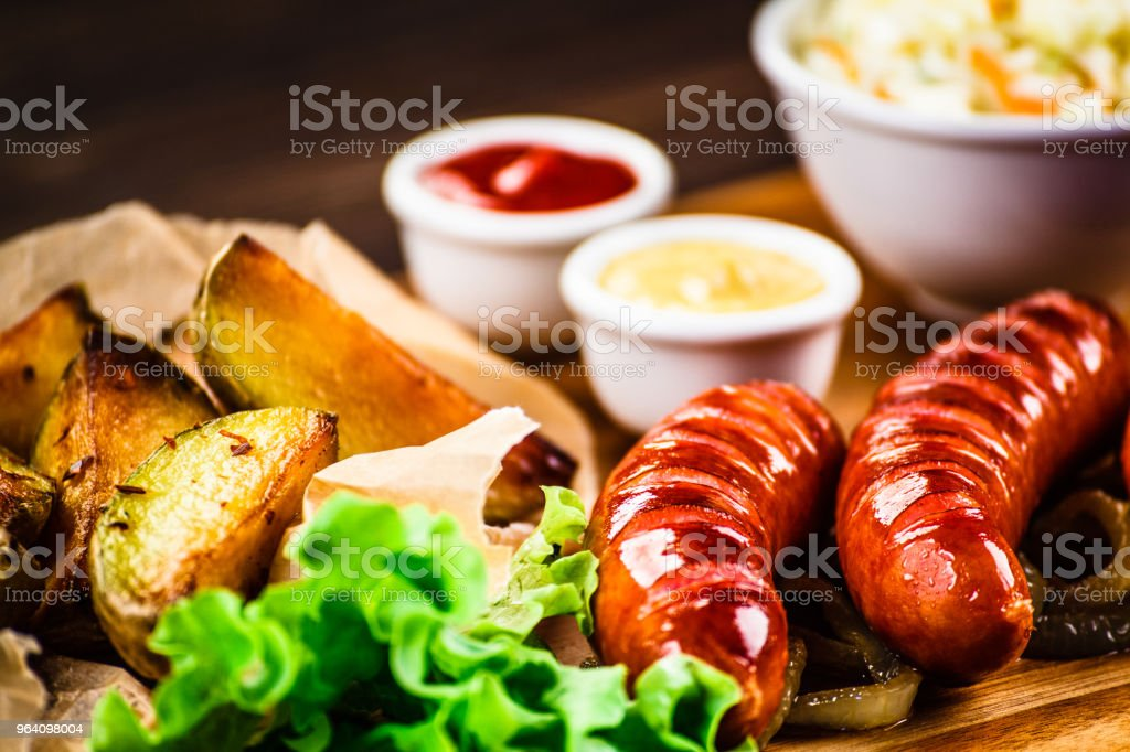 Grilled sausages - Royalty-free Baked Potato Stock Photo