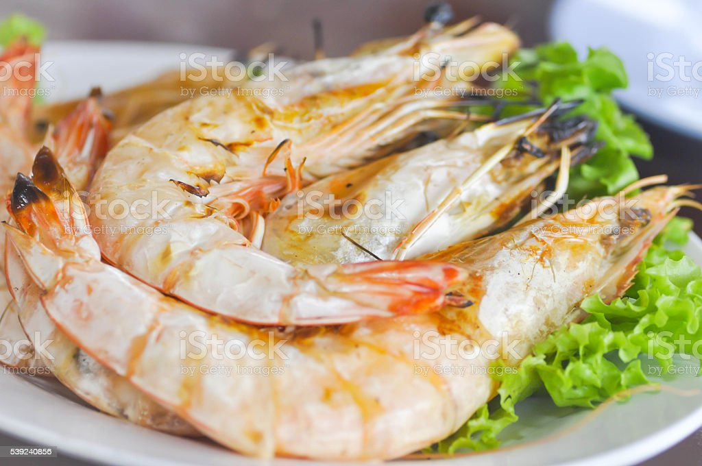 grilled shrimp dish royalty-free stock photo