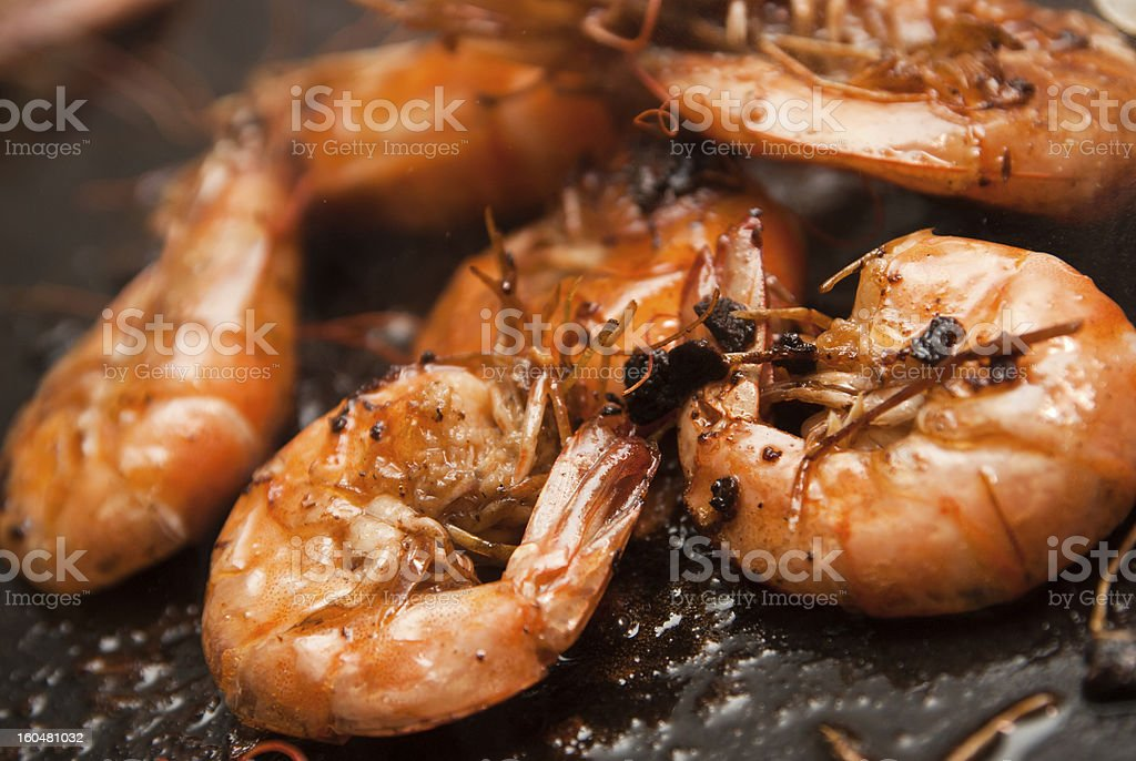 Grilled shrimp royalty-free stock photo