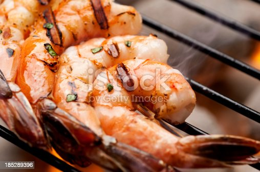 Shrimp on the grill.  Please see my portfolio for other food related images.