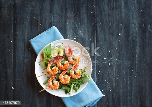 istock Grilled shrimps 478407972
