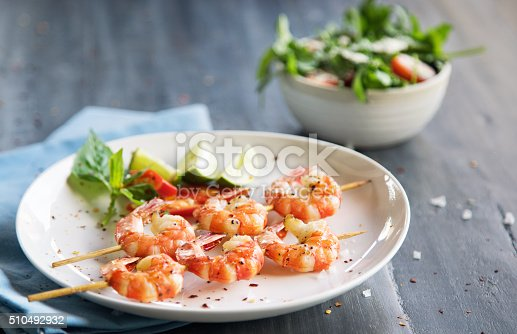 istock Grilled shrimps 510492932