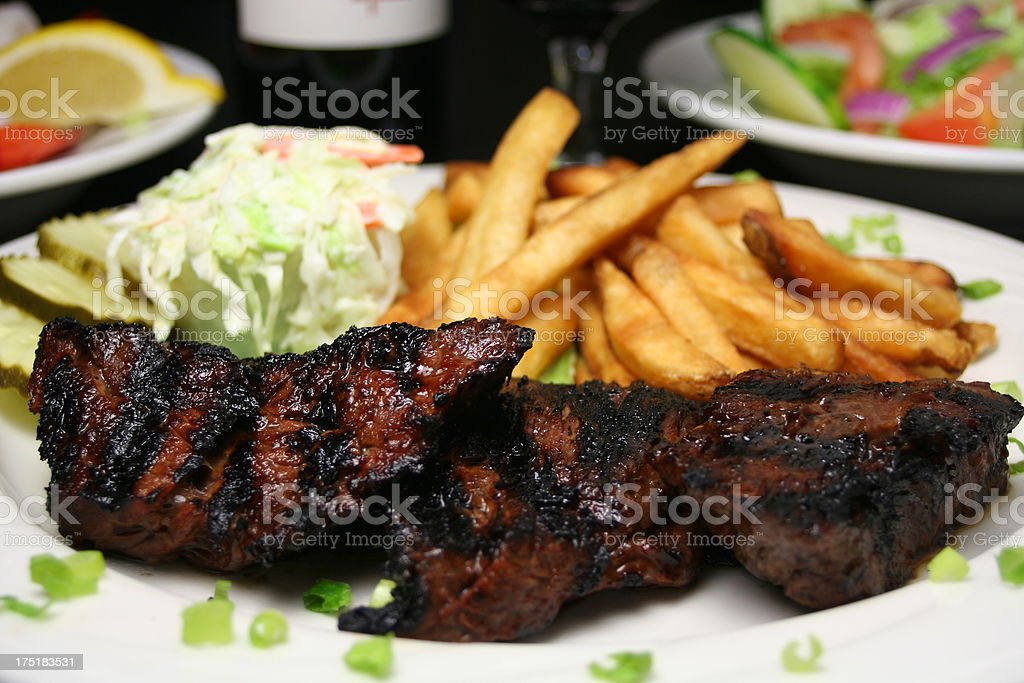 Grilled Sirloin Dinner royalty-free stock photo