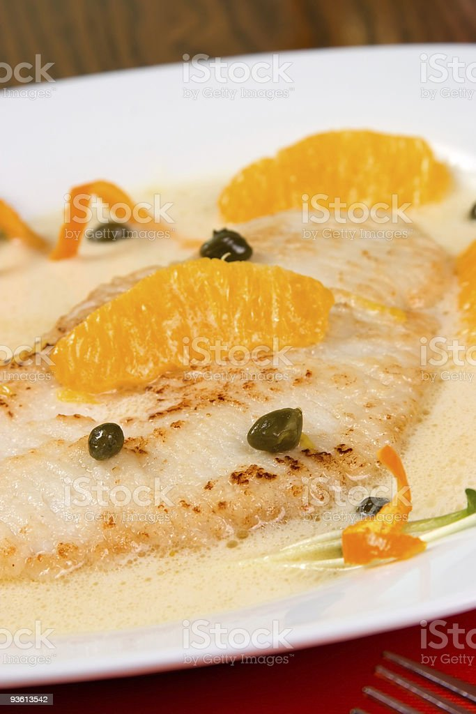 Grilled skate royalty-free stock photo