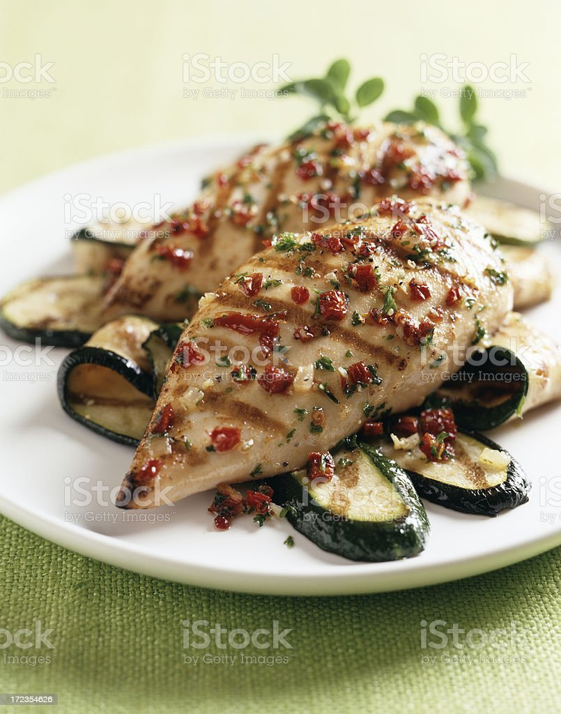 Grilled Skinless Chicken Breast royalty-free stock photo