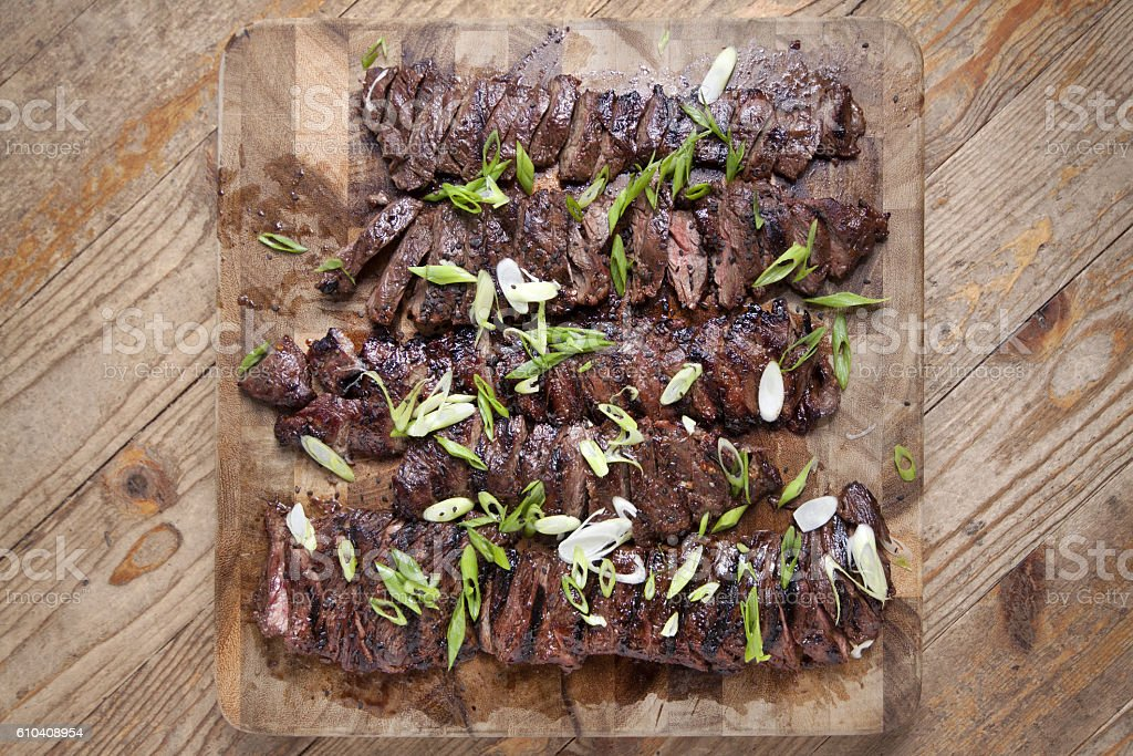 Grilled skirt steak royalty-free stock photo