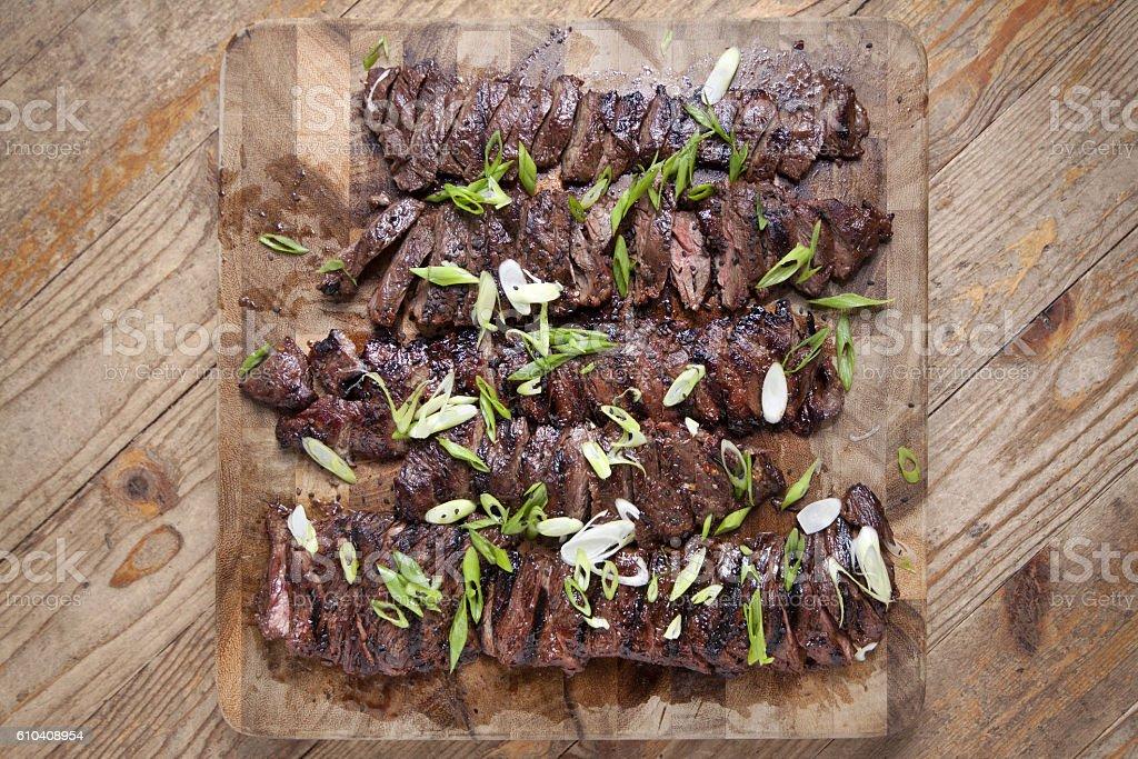 Grilled skirt steak stock photo