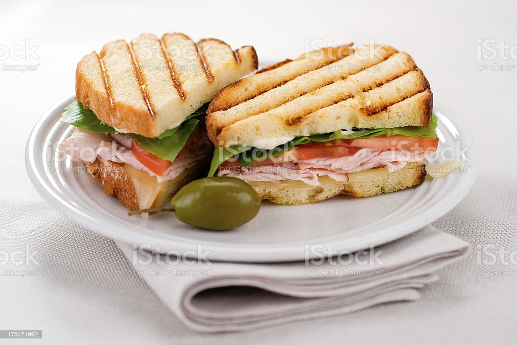 Grilled Sourdough Panini royalty-free stock photo