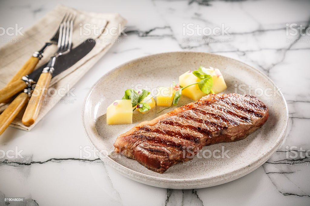Grilled Steak stock photo
