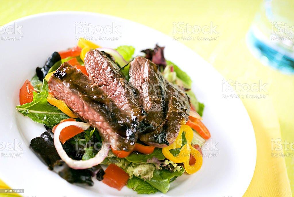 Grilled Steak Salad stock photo