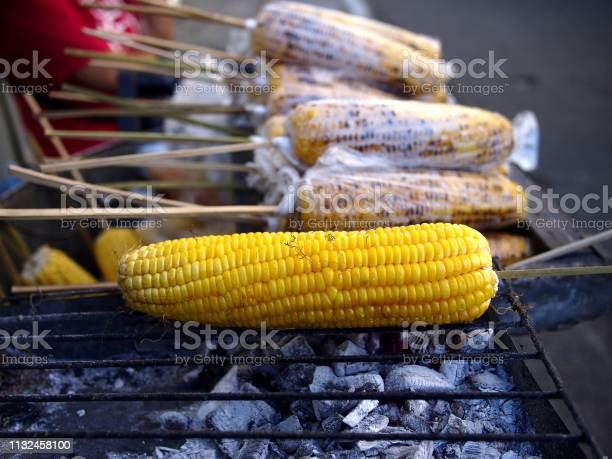 Grilled sweet corn on barbecue stick sold at a street food cart picture id1132458100?b=1&k=6&m=1132458100&s=612x612&h=5r6w0lmv0gbawhylsfjcw sctq3kv3elr b 1 coxlm=