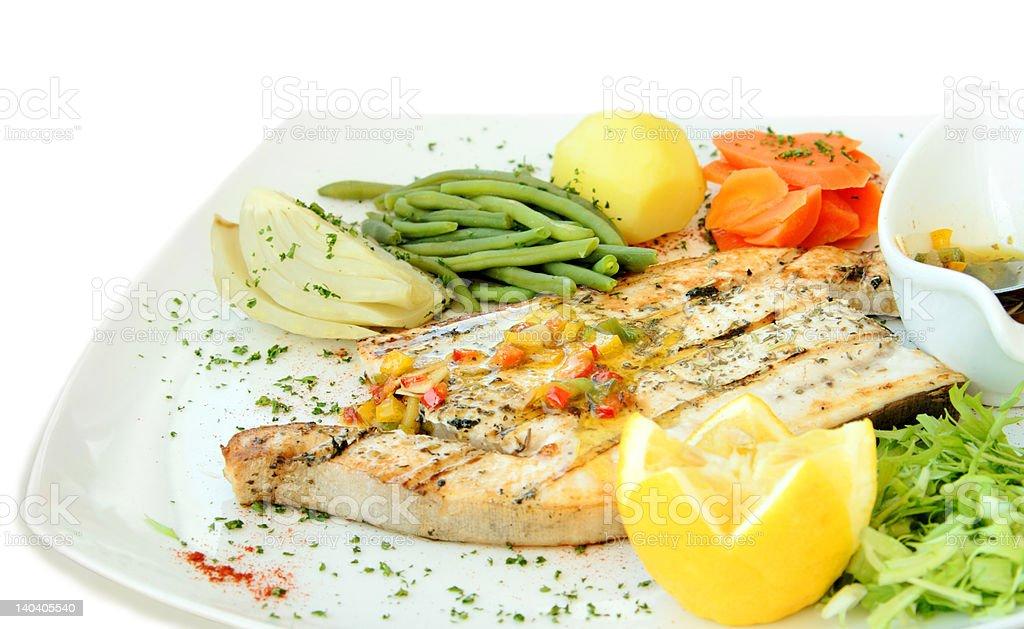 Grilled swordfish royalty-free stock photo