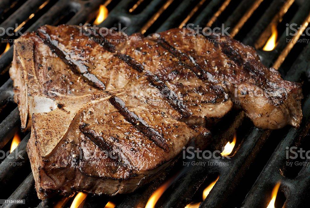 Grilled T-Bone stock photo