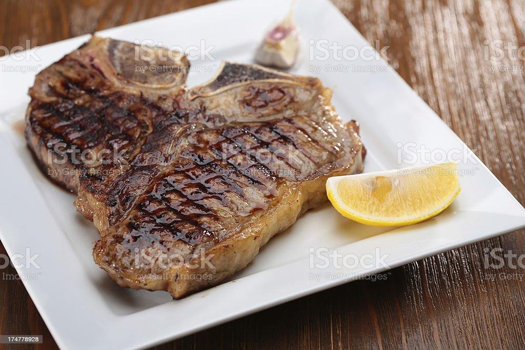 Grilled T-Bone Steak royalty-free stock photo