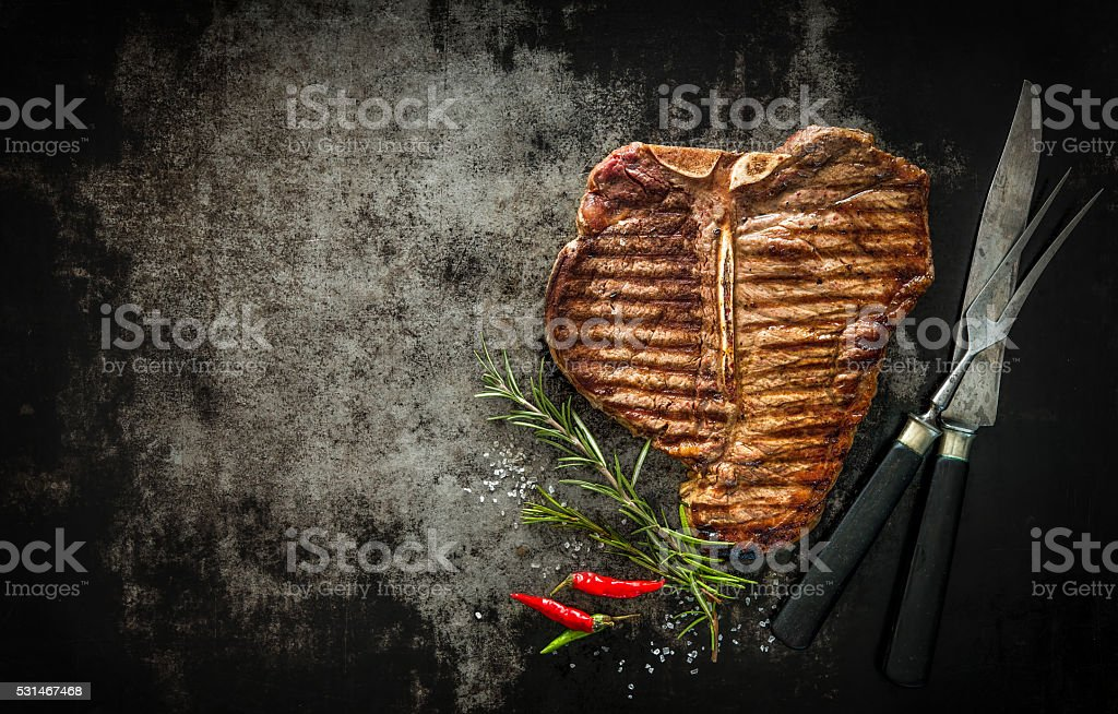 Grilled T-Bone Steak​​​ foto