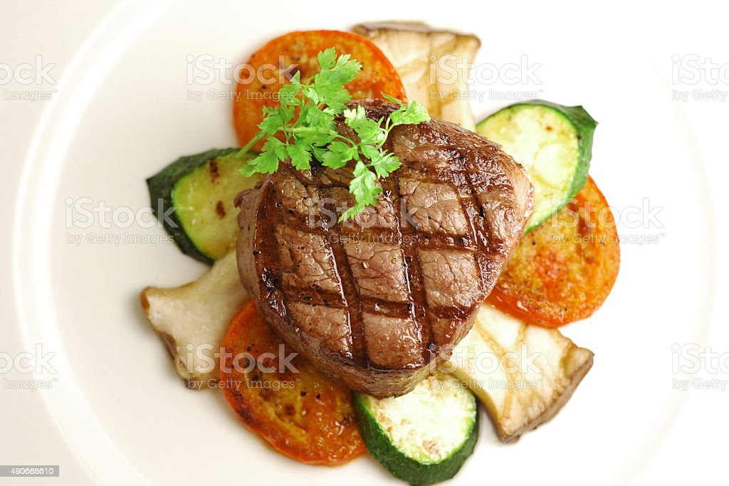 Grilled Thick Filet stock photo